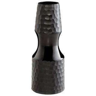 "Cyan Design 09462  Basalte 5-1/4"" Diameter Glass Vase - Black"
