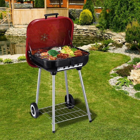 Outsunny Steel Portable Charcoal Barbecue Grill