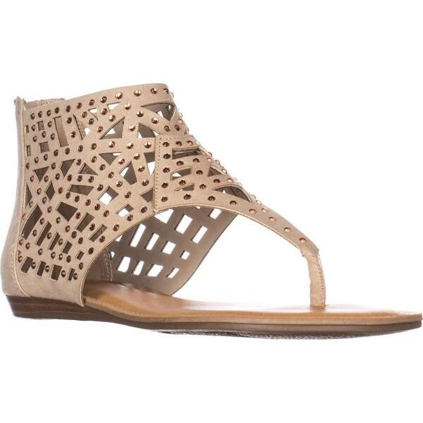 Fergalicious Serenade Flats Thong Sandals, Nude
