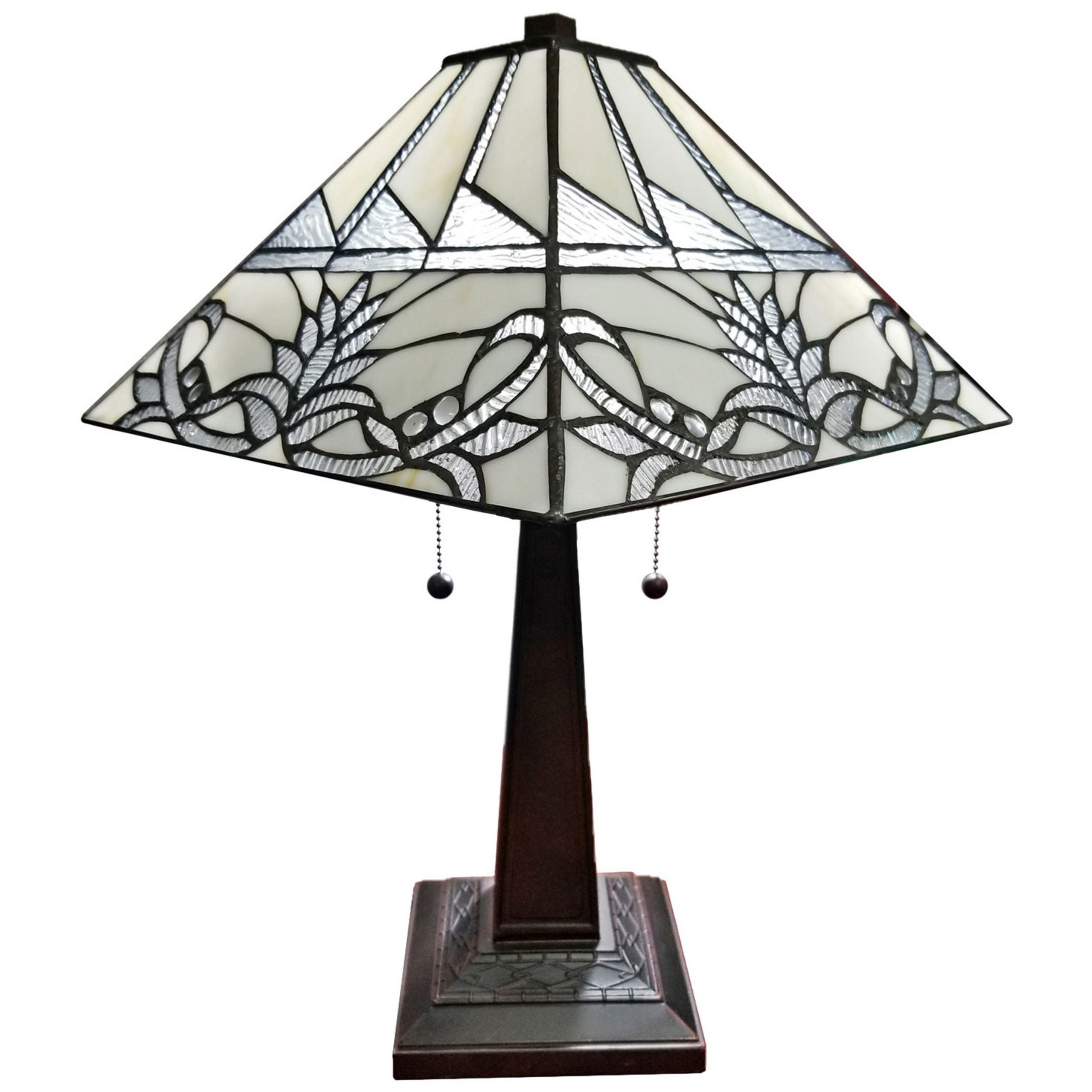 Shop Black Friday Deals On Tiffany Style Table Lamp Mission 22 Tall Stained Glass Tan Floral Flower Decor Bedroom Handmade Gift Am312tl14b Amora Lighting Overstock 28605199