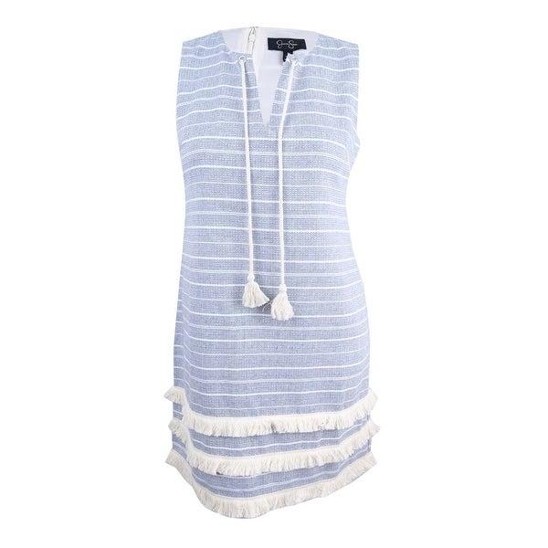 Jessica Simpson Women's Tassel-Tie Woven Fringe Dress - Blue