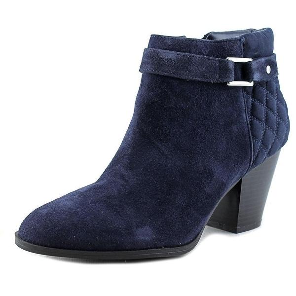 Alfani Wakefeld Women Pointed Toe Suede Blue Bootie