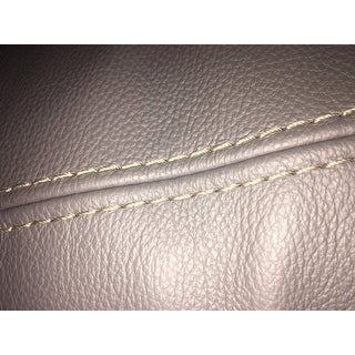 Paulina Grey Italian Leather Sectional Sofa