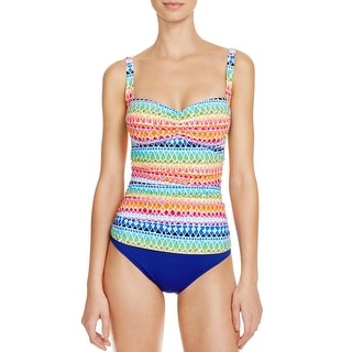 La Blanca Womens Tankini Printed Swim Top Separates
