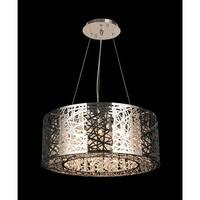 Worldwide Lighting W83143C24 Aramis 12-Light LED Crystal Chandelier - Chrome