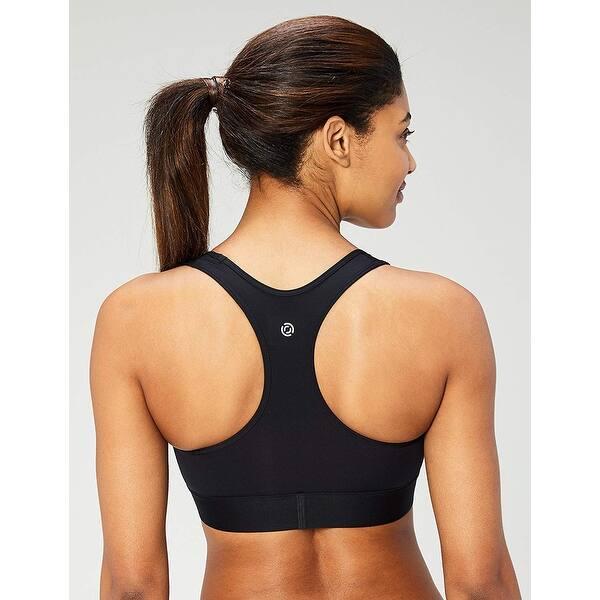 Core 10 Womens Medium Support Compression Sports Bra-No Removable Cups