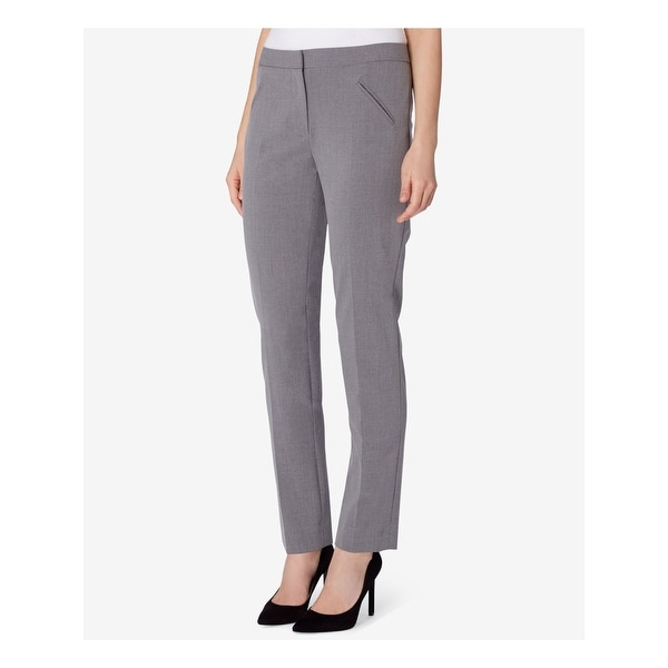 TAHARI Womens Gray Wear To Work Pants Size 2