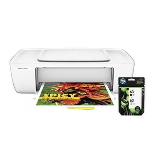 """HP DeskJet 1112 Printer w/ 63 Ink Cartridge - Black, Tri-Color HP Deskjet 1112 Inkjet Printer - Color - 4800 x 1200 dpi Print -"