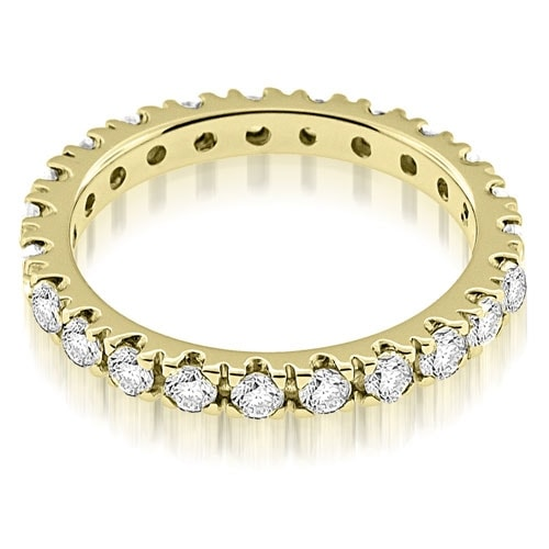 1.25 cttw. 14K Yellow Gold Round Cut Diamond Eternity Ring