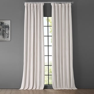 Link to Exclusive Fabrics Signature Porcelain White Velvet Blkt Curtain Panel Similar Items in Curtains & Drapes