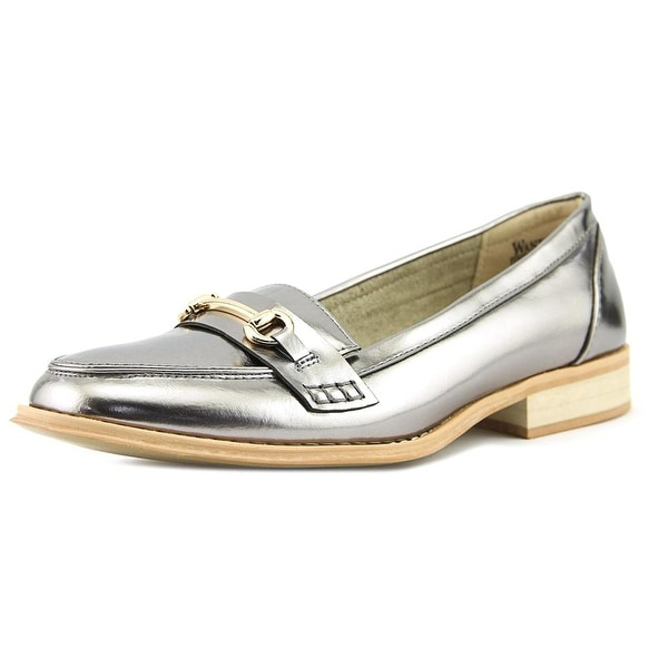Wanted Citi Time Women Round Toe Synthetic Silver Loafer