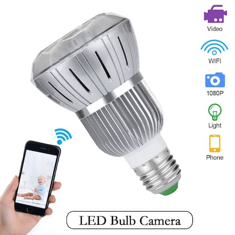 Full HD 1080P Secuity Camera Light Bulb WIFI IP Camera Motion Detection CCTV - M
