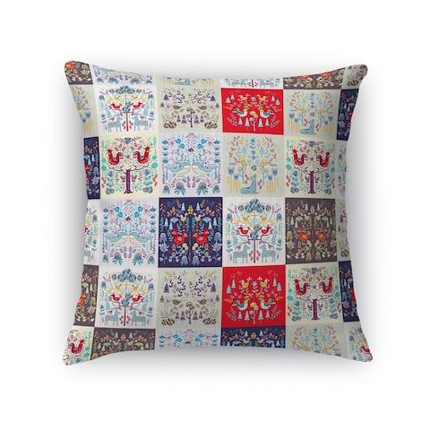 SCANDINAVIAN PATCHWORK Accent Pillow By Kavka Designs