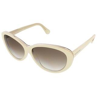 Balenciaga BA0005S 24F Ivory/Gold Oval sunglasses