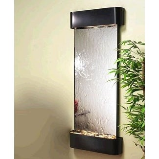 Adagio Inspiration Falls Wall Fountain Silver Mirror Blackened Copper - IFR1540 - Thumbnail 0