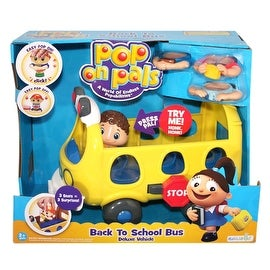 Pop On Pals Back to School Bus Deluxe Vehicle