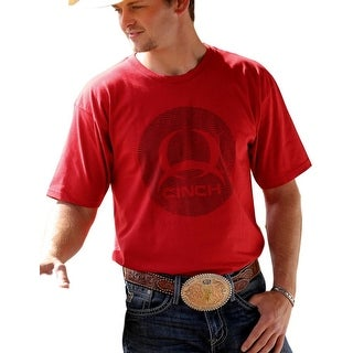 Cinch Western Shirt Mens Short Sleeve Jersey Crew Tee Red MTT1690245