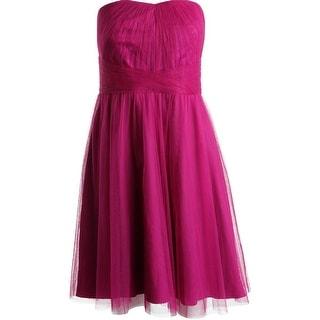 Lauren Ralph Lauren Womens Pleated Strapless Party Dress