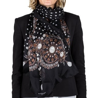 Givenchy Women's Jeweled Pattern Silk Scarf Large