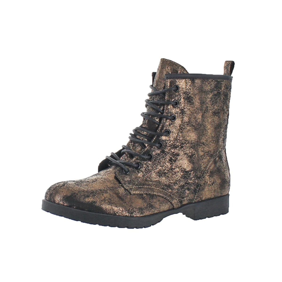 Lights Out Combat Boots Lace Up Casual