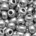 Czech Seed Beads 6/0 Silver Supra Metallic (1 Ounce) - Thumbnail 0
