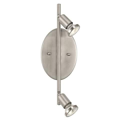Eglo Buzz 2-Light Matte Nickel Ceiling or Wall Track Light