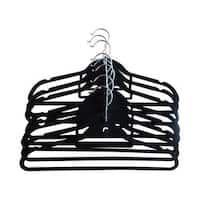 Closet Spice Ultra Thin Non-Slip Velvet Suit Hangers with 360º Chrome Swivel Hook, Multi-Purpose Hook and Notches - Set of 40