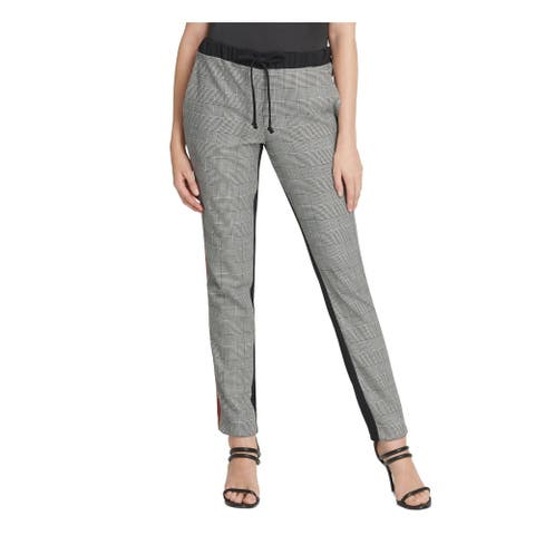 DKNY Womens Gray Plaid Lounge Pants Size L