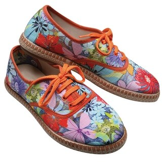 Women's Mimosa Floral Canvas Tennis Shoes - 38