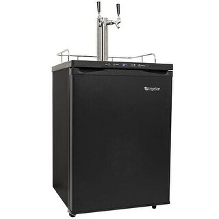 EdgeStar KC3000TWIN 24 Inch Wide Dual Tap Kegerator with Digital Display