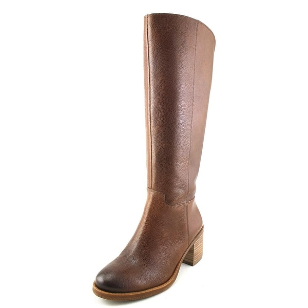 Lucky Brand Ritten Wide Calf Round Toe Leather Knee High Boot