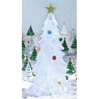 "12"" Glitter Buddies Lighted LED Color Changing Frosted Christmas Tree Decoration"