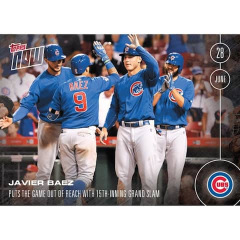 Chicago Cubs, Javier Baez MLB 2016 Topps NOW Card 191 - multi