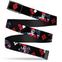 Harley Quinn Diamond Fcg Black Red  Chrome Harley Quinn Shooting Poses Web Belt