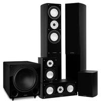 Fluance Reference Series Surround Sound Home Theater 5.1 Channel System - Black Ash (XL51BR)