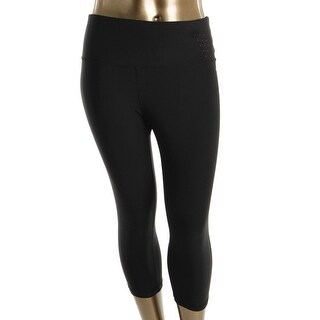 RBX Womens Plus Capri Pants Laser Cut Stretch