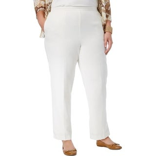 Alfred Dunner Womens Plus Casual Pants Classic Fit Mid-Rise