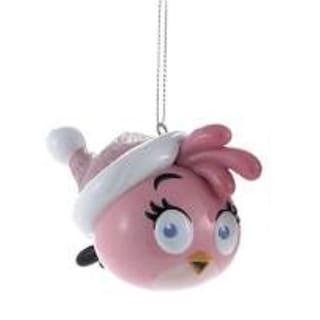 "3.25"" Angry Birds™ Pink Glitter Bird Decorative Christmas Ornament"