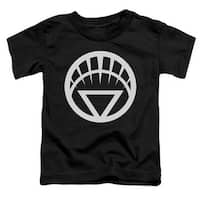 Green Lantern-White Emblem Short Sleeve Toddler Tee, Black -