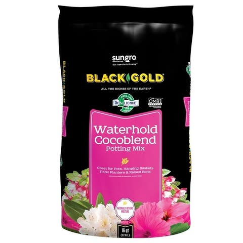 Black Gold 1402030 16QT U Waterhold Cocoblend Potting Soil, 16 Quart