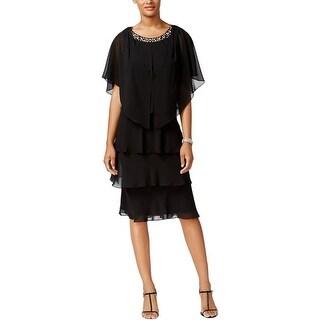 SL Fashions Womens Dress With Jacket Chiffon Cocktail