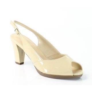 Bella Vita NEW Beige LisetI Shoes Size 8.5N Patent Slingbacks Heels