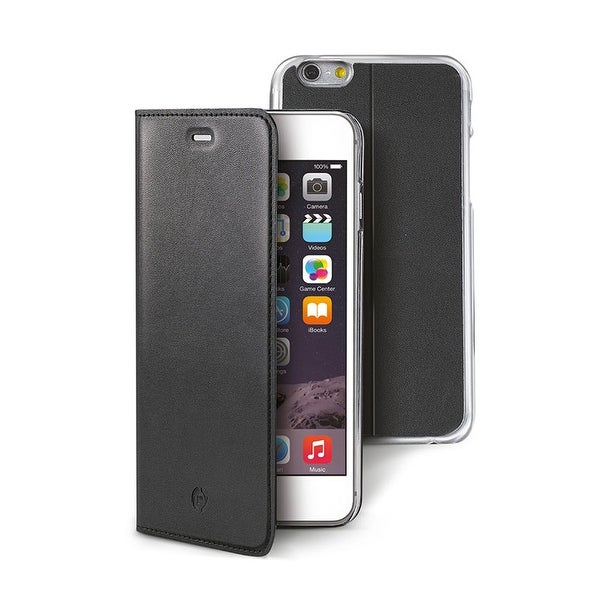 new arrival 180ff a90d8 Celly Super Slim Magnetic Leather Wallet Case for iPhone 6/6S - Black
