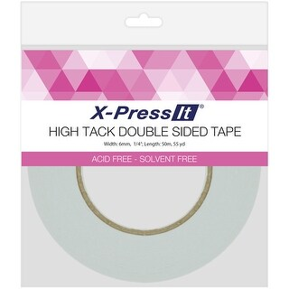 "X-Press It High Tack Double-Sided Tissue Tape-.25""X55yd"