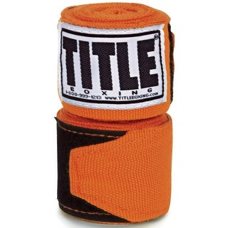 "Title Boxing 180"" Semi Elastic Mexican Handwraps - Orange"