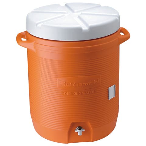 Rubbermaid FG16100111 10 Gallon Capacity Portable Cooler - Orange