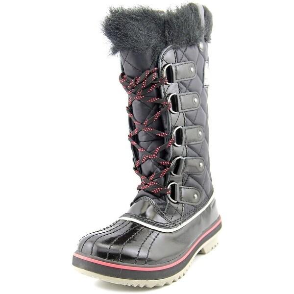 Sorel Tofino Women Round Toe Canvas Black Winter Boot