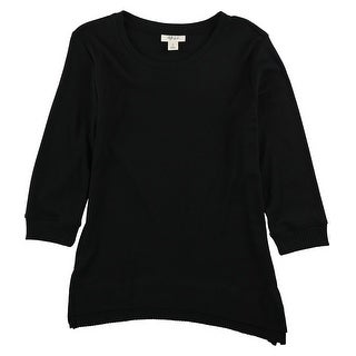 Link to Style & Co. Womens Solid Sweatshirt, black, Small Similar Items in Loungewear
