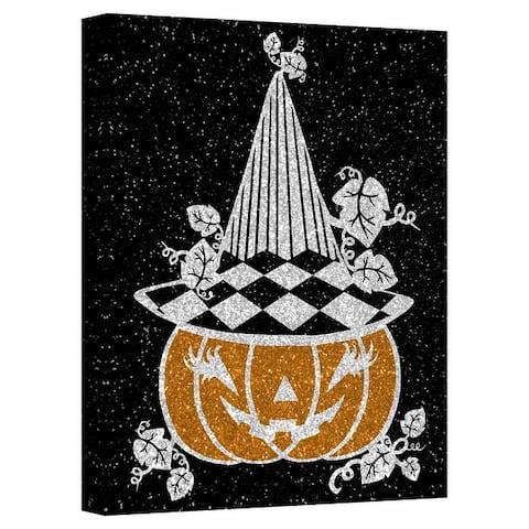 ChiChi Décor 'Glamoween Pumpkin V' Halloween Canvas Wall Art