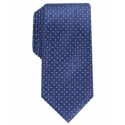 Perry Ellis Men's Kimball Micro-Dot Tie Navy Size Regular